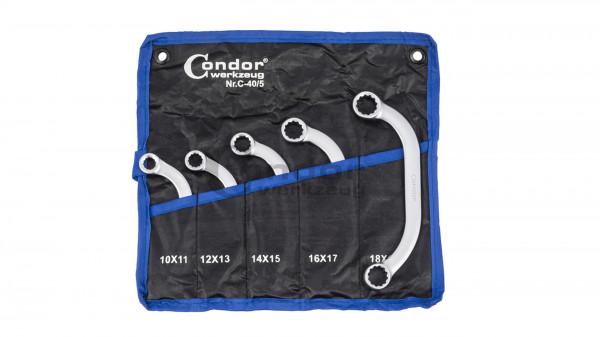 Condor 40/5 Starter- und Blockschlüssel-Satz, 5-tlg., 10-19 mm