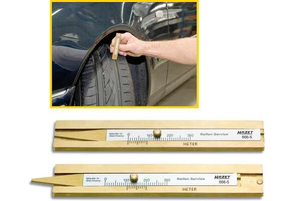 HAZET 666-5 Reifenprofil-Tiefenmesser