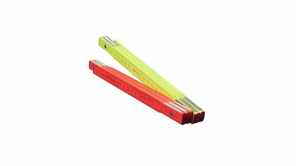 Holzgliedermaßstab GELB/ROT neon 2m BMI