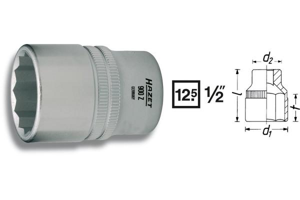 HAZET 900AZ-7/16 Doppel-Sechskant-Steckschlüssel-Einsatz