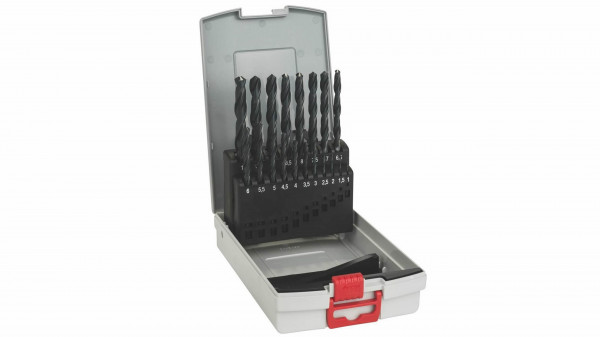 BOSCH Metallbohrer-Set HSS-R, ProBox, 19-teilig, DIN 338, 1-10 mm
