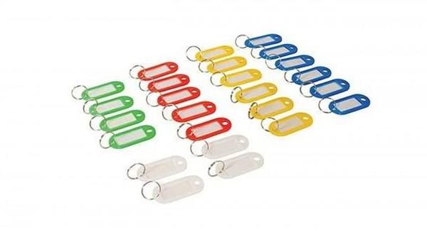 Schlüsselanhänger farbig sortiert 25Stk.