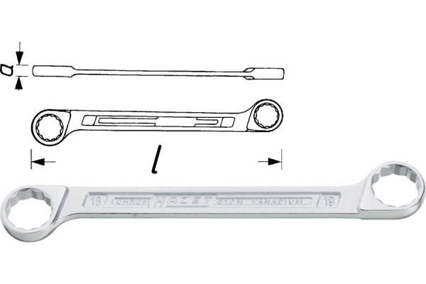 HAZET 610N-10X11 Doppelringschlüssel
