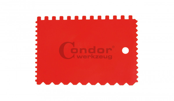 Condor 390B Kunststoff-Zahnspachtel, flexibel, 90x135 mm