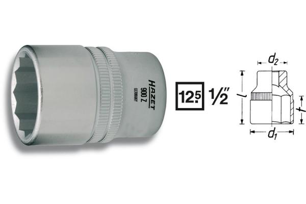 HAZET 900Z-27 Doppel-Sechskant-Steckschlüssel-Einsatz