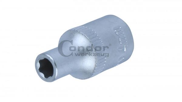 Condor 21200/7 Stecknuss, 1/4'', Super-Lock 7 mm