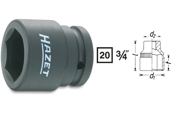 HAZET 1000S-19 Kraft-Sechskant-Steckschlüssel-Einsatz