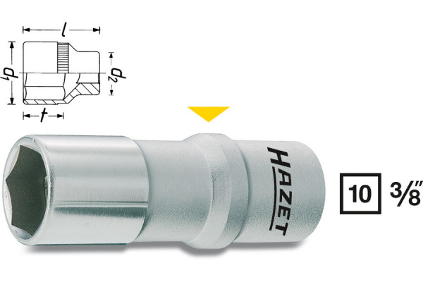 HAZET 880AMGT-1 Zündkerzen-Steckschlüssel-Einsatz