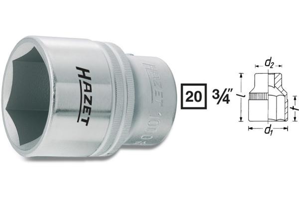 HAZET 1000-46 Sechskant-Steckschlüssel-Einsatz