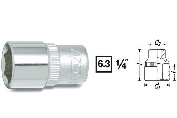 HAZET 850-5 Sechskant-Steckschlüssel-Einsatz