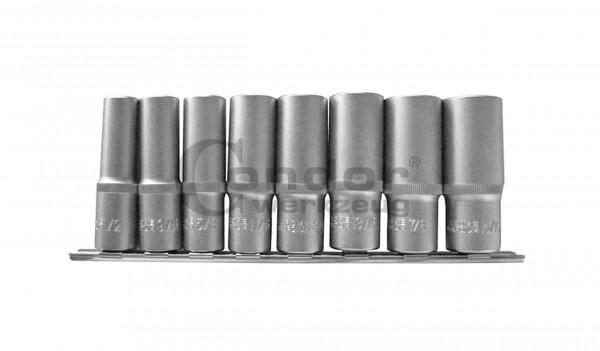 Condor 22112 Steckschlüssel-Einsätze, 8-tlg., 1/2'', tief, zöllig, 6-kant 1/2-15/16''
