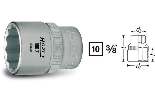 HAZET 880Z-18 Doppel-Sechskant-Steckschlüssel-Einsatz