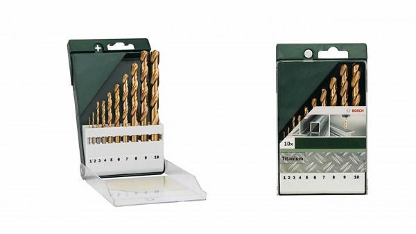 BOSCH Metallbohrer Set HSS-TIN 1-10mm 10tlg.
